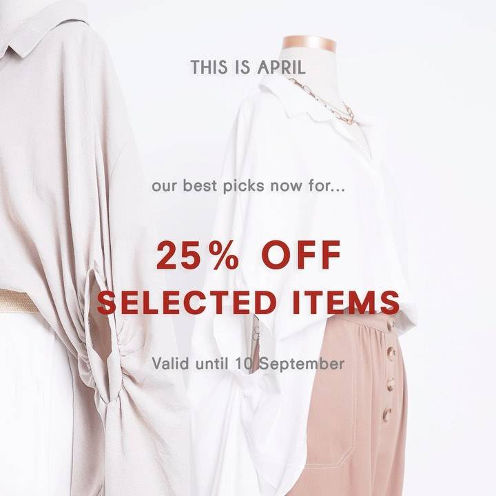 Diskon This Is April Discount 25% Off On Selected Items