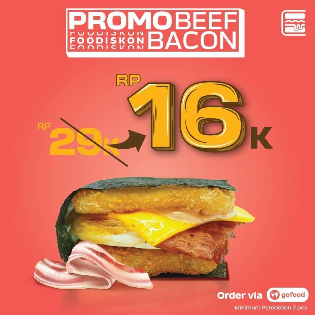 Diskon Burgushi Promo Beef Bacon Di GoFood