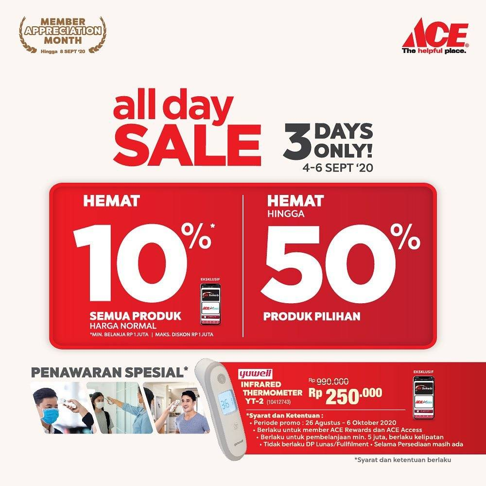 Diskon Ace Hardware All Day Sale Up To 50% Off