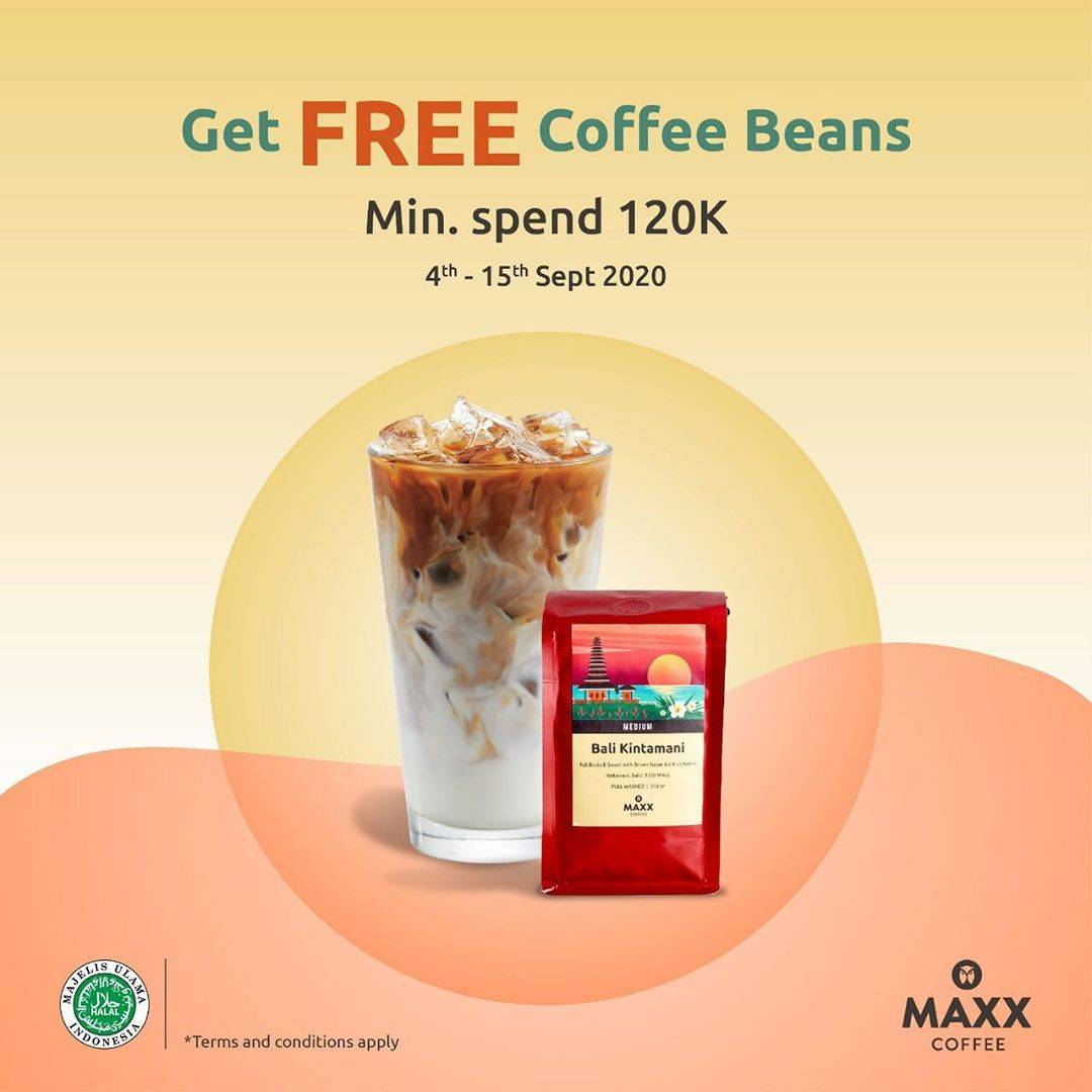 Diskon MAxx Coffee Promo Get Free Coffee Beans