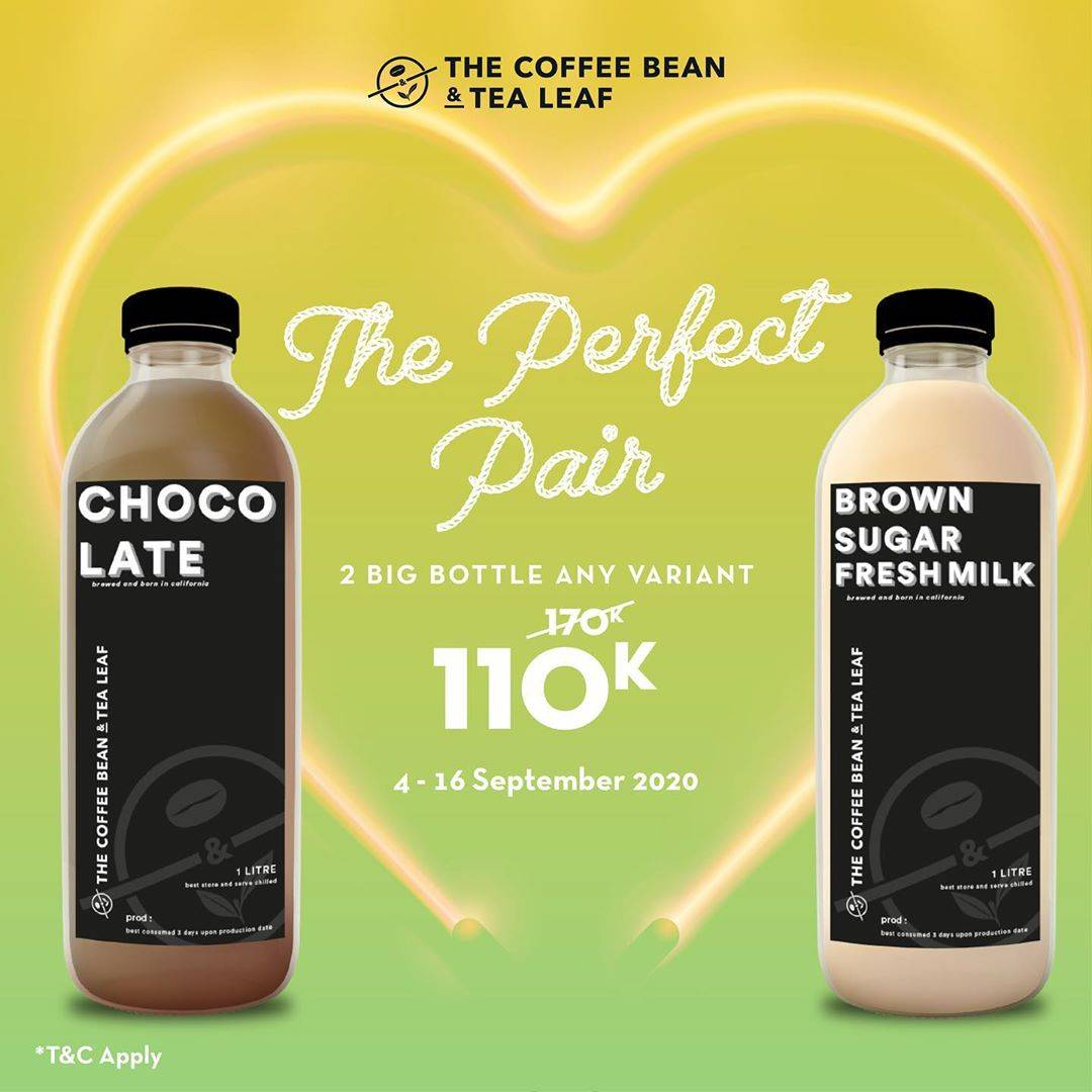 Diskon Coffee Bean Promo The Perfect Pair - 2 Big Bottle 110K