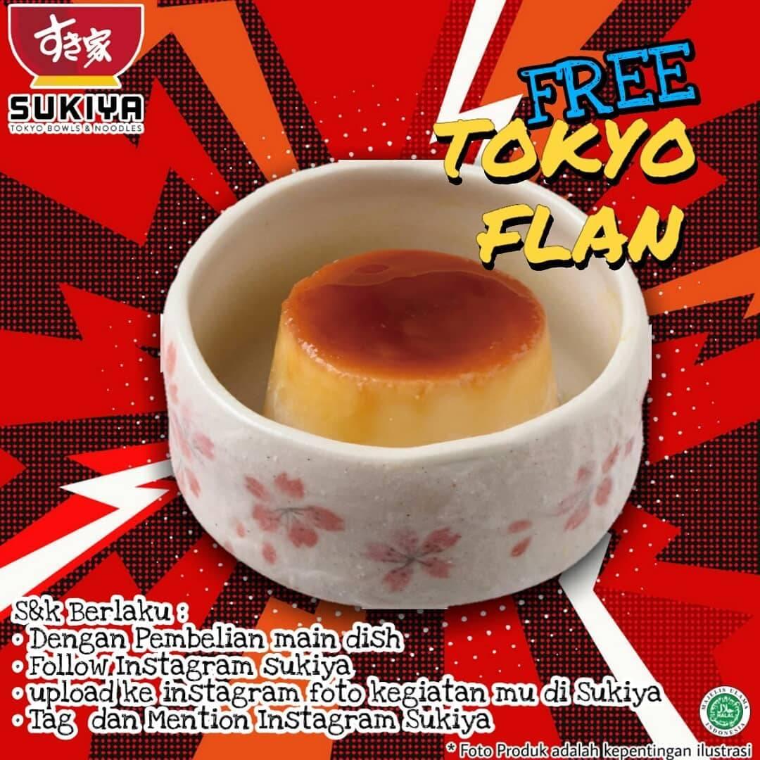 Diskon Sukiya Free Tokyo Flan
