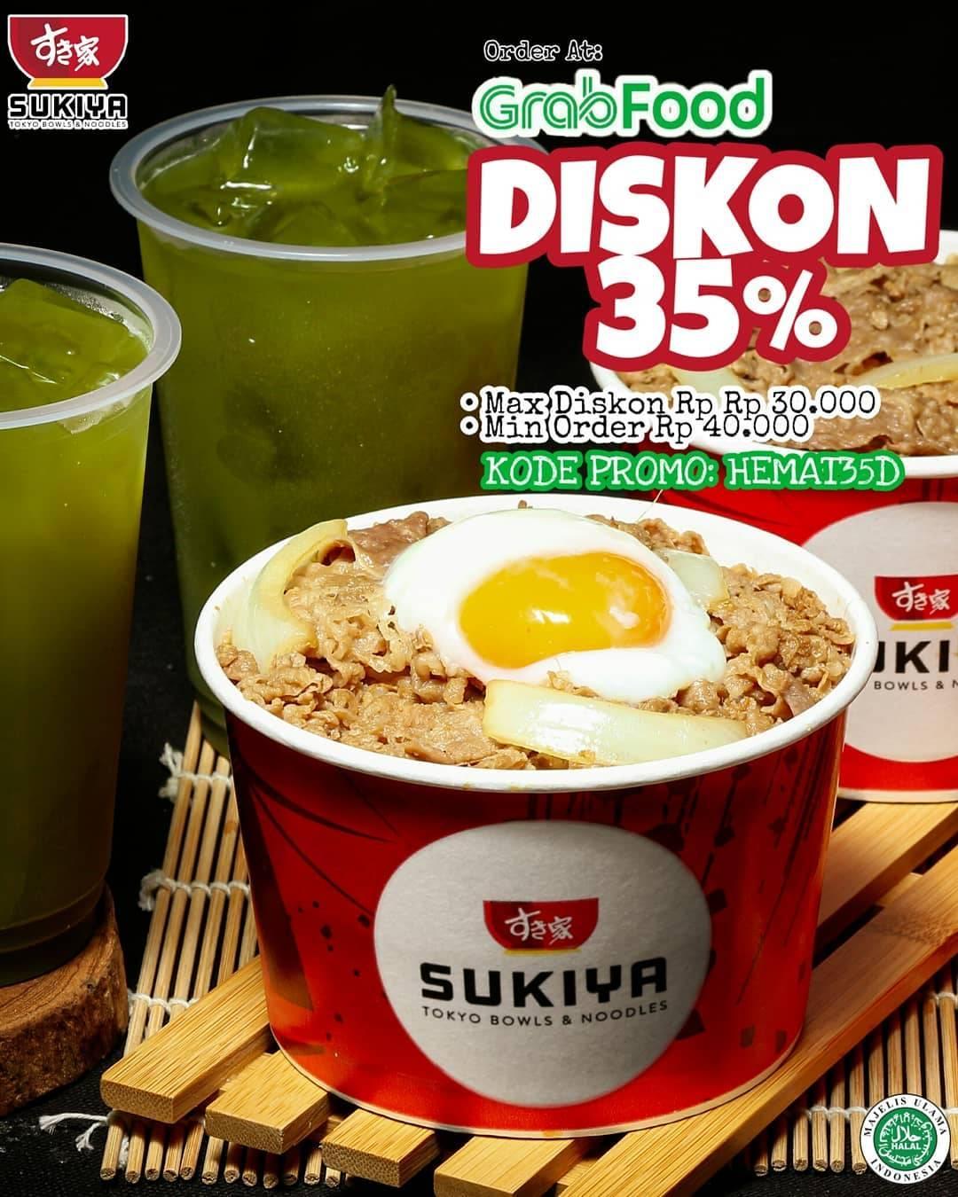 Diskon Sukiya Diskon 35% Di Grabfood