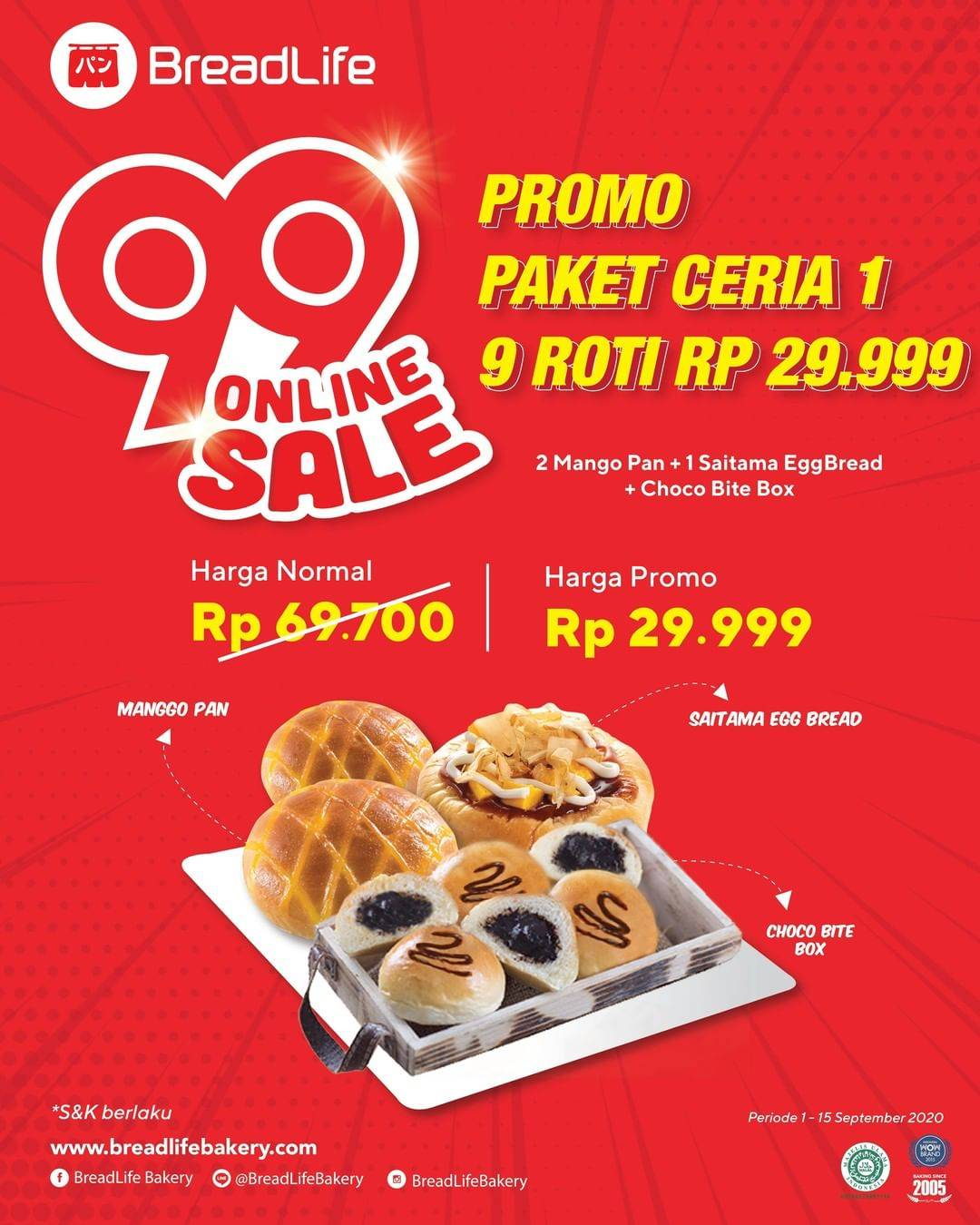 Diskon Breadlife 99 Online Sale - Promo Paket Ceria