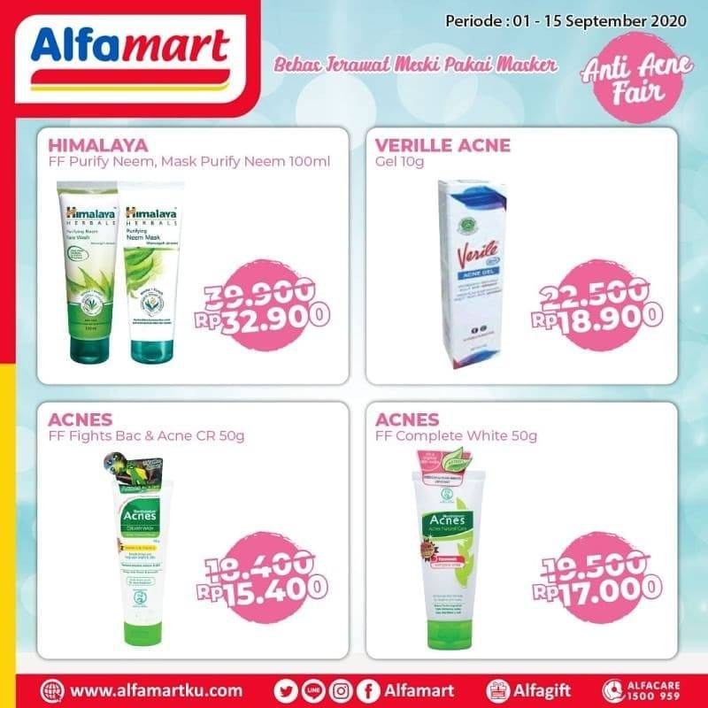 Diskon Katalog Promo Alfamart Anti Acne Fair Periode 1 - 15 September 2020