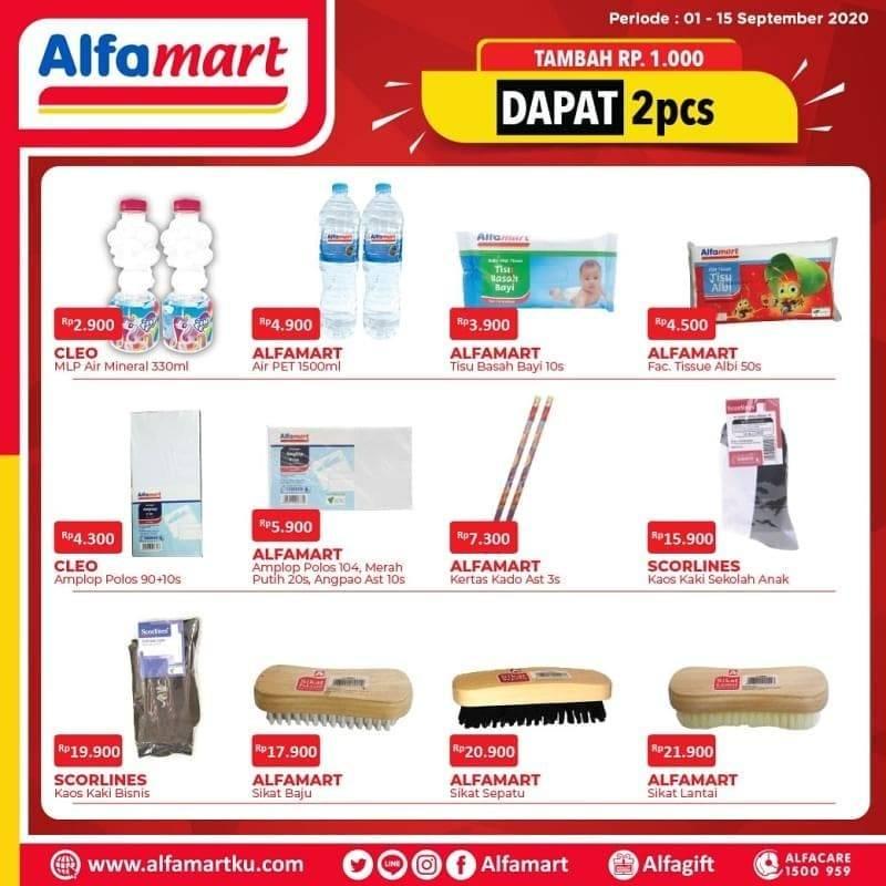 Diskon Katalog Promo Alfamart +1000 dapat 2 Periode 1 - 15 September 2020