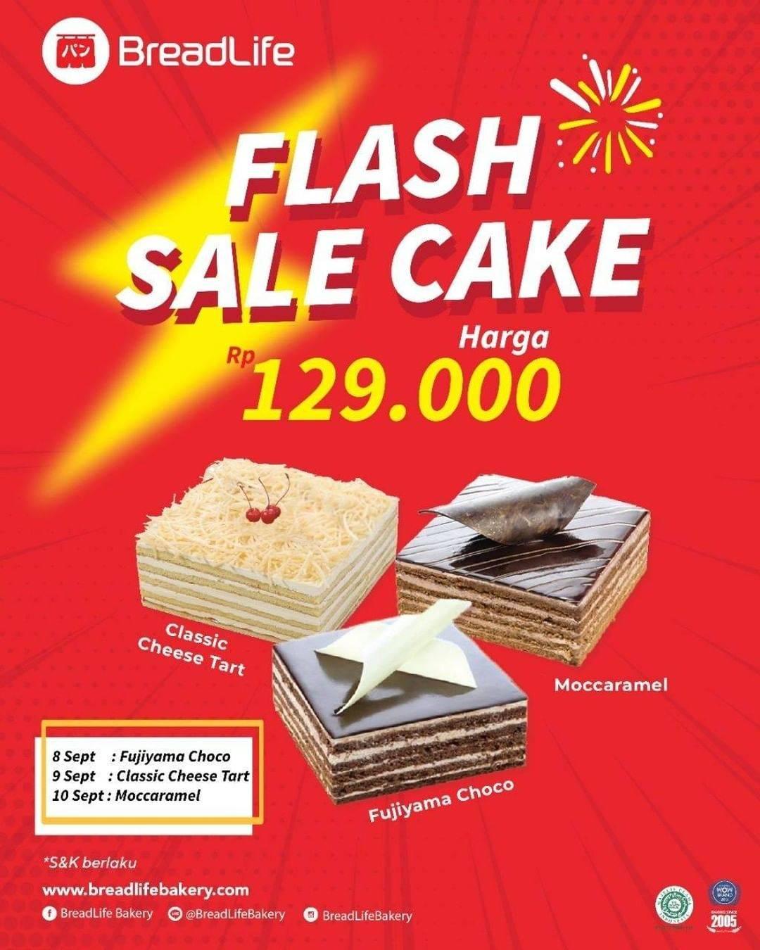 Diskon Breadlife Flash Sale Cake Hanya Rp. 129.000