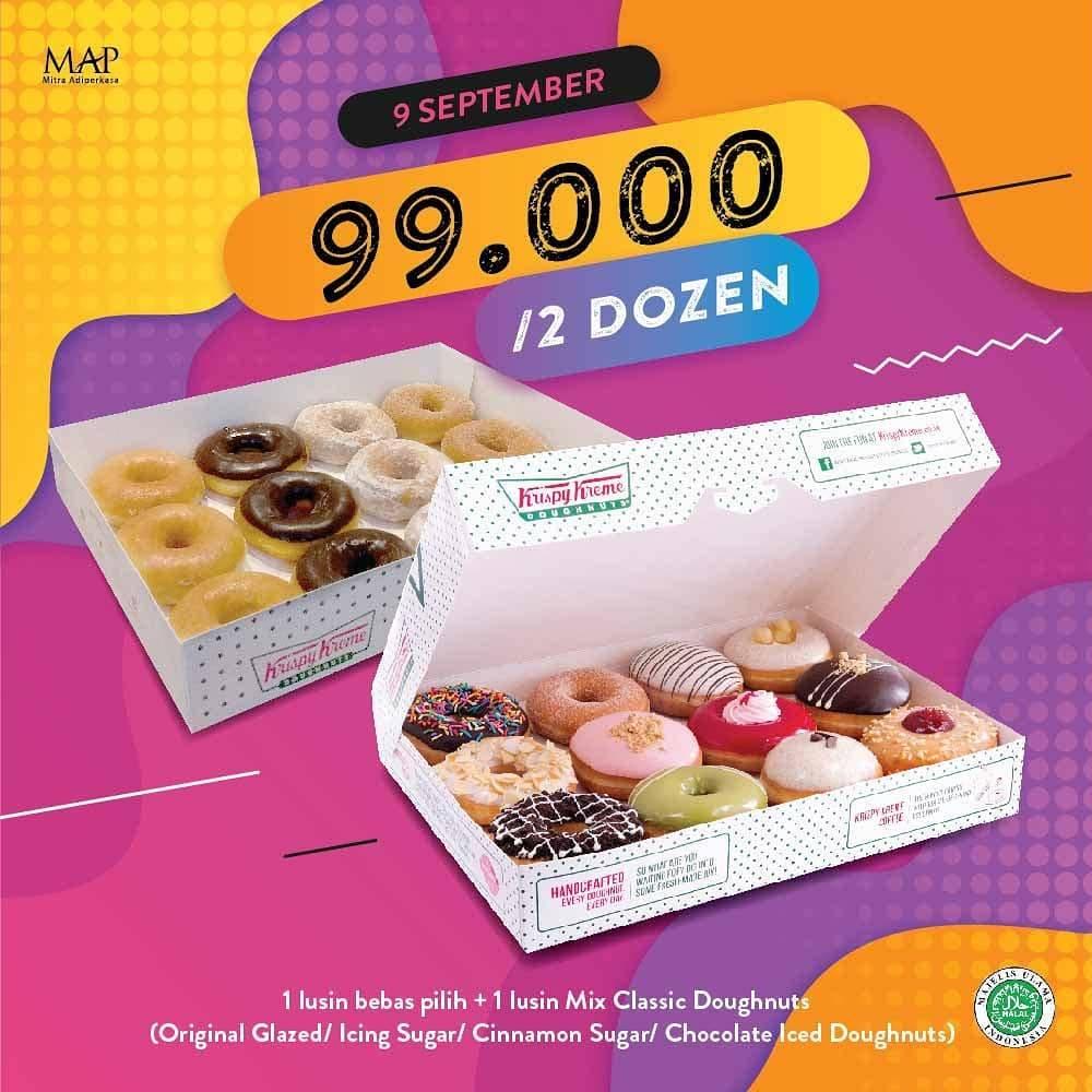 Diskon Krispy Kreme Promo September Ceria 9.9