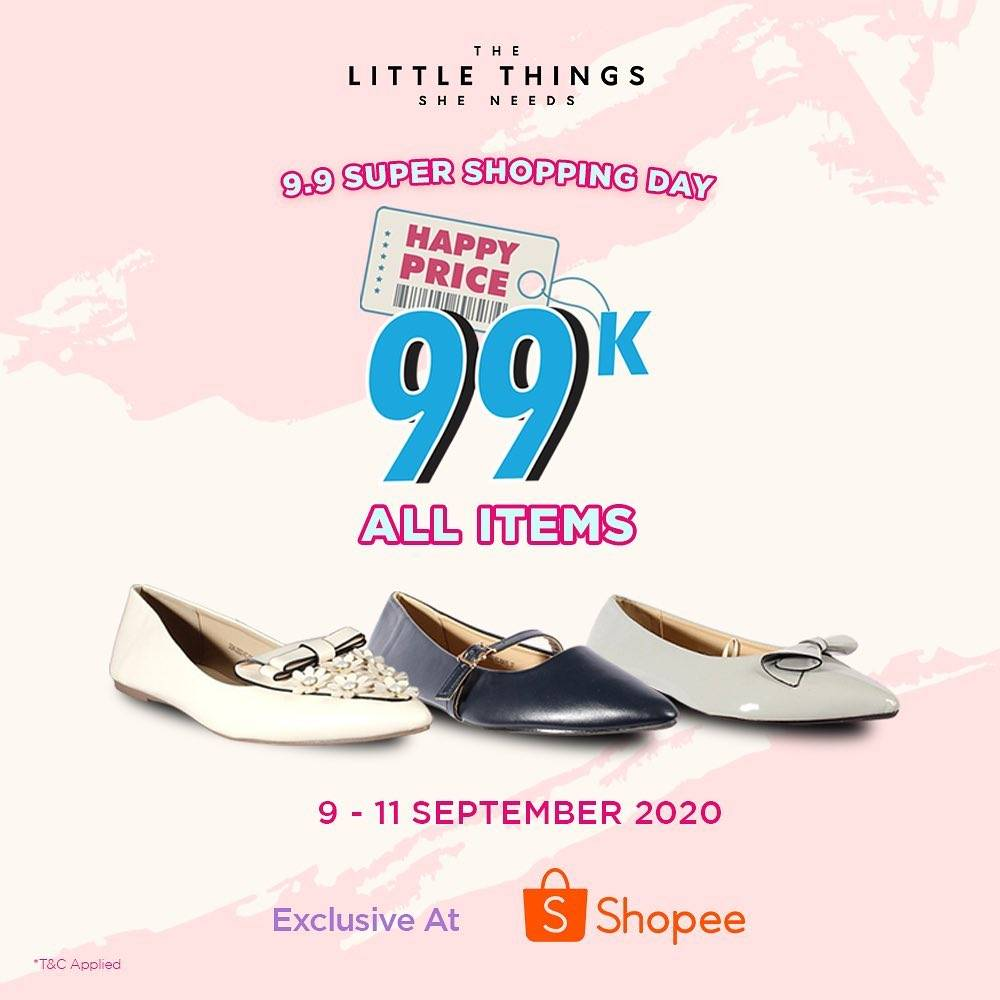 Diskon The Little Things She Needs 9.9 Super Shopping Day On Shopee