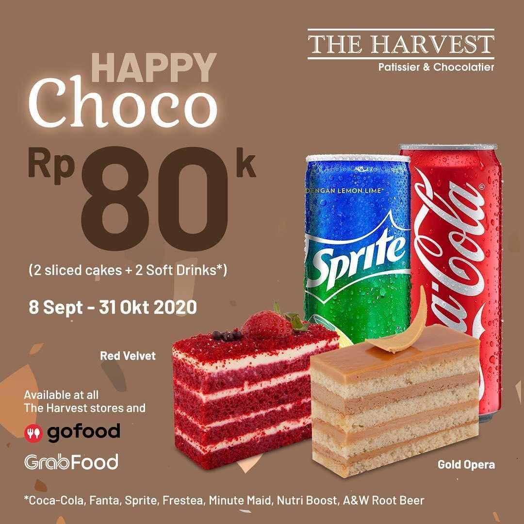 Promo diskon The Harvest Promo Happy Cheese & Happy Choco