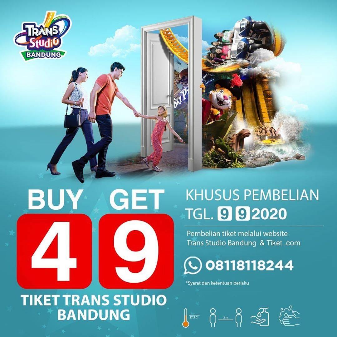 Diskon Trans Studio Bandung Buy 4 Get 9 Ticket