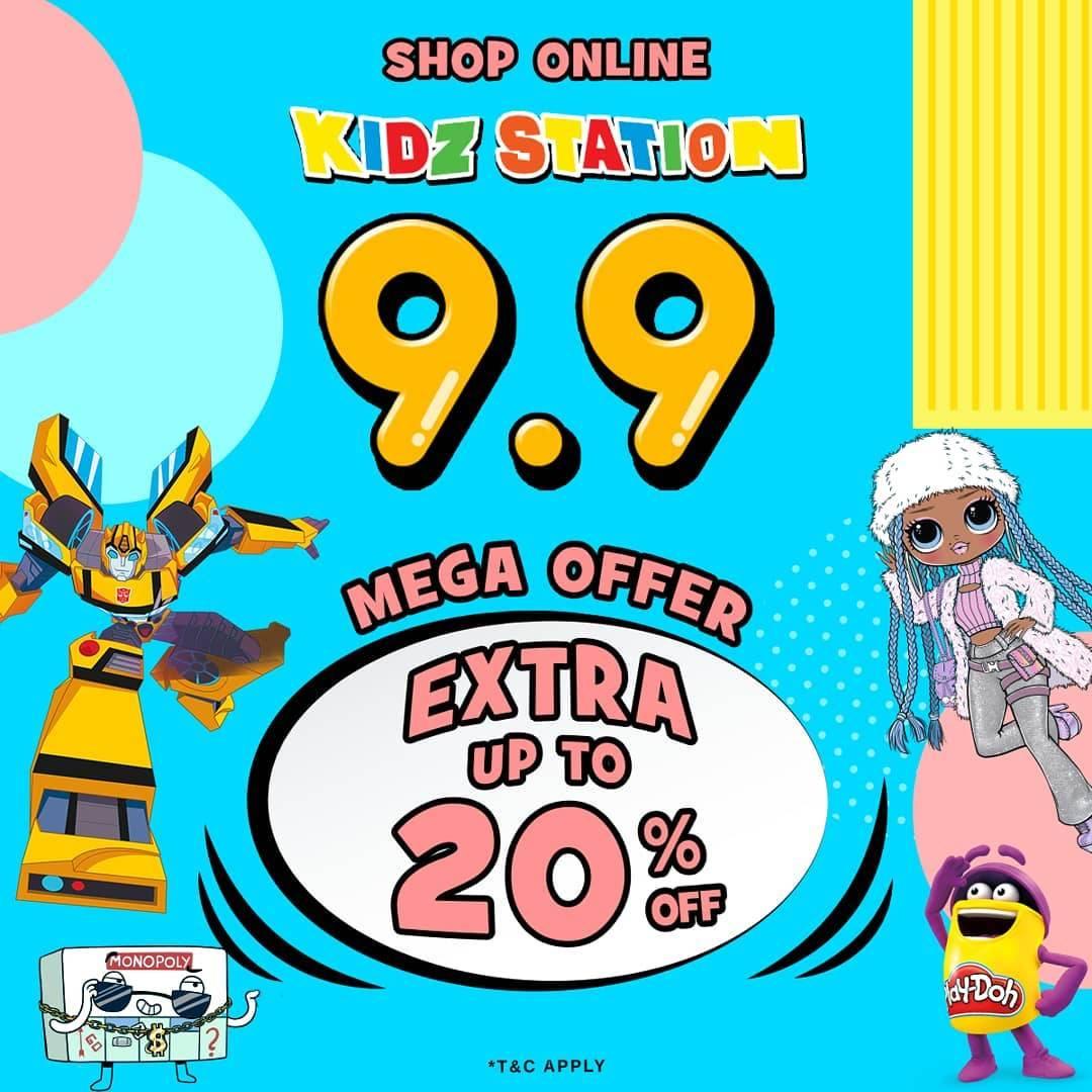 Diskon Kidz Station 9.9 Mega Offer Extra Up To 20% Off