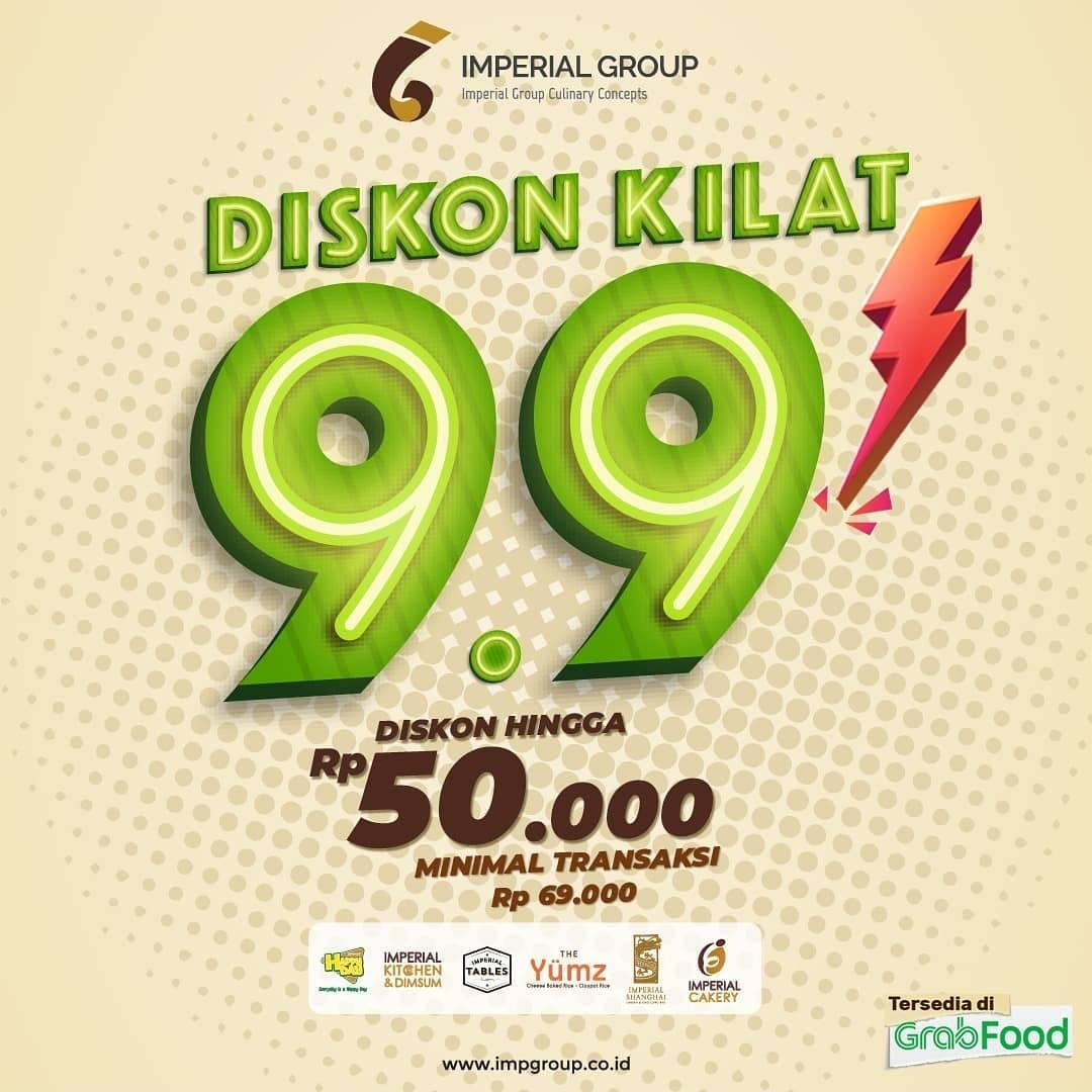 Diskon Imperial Group Diskon Kilat 9.9 Di GrabFood