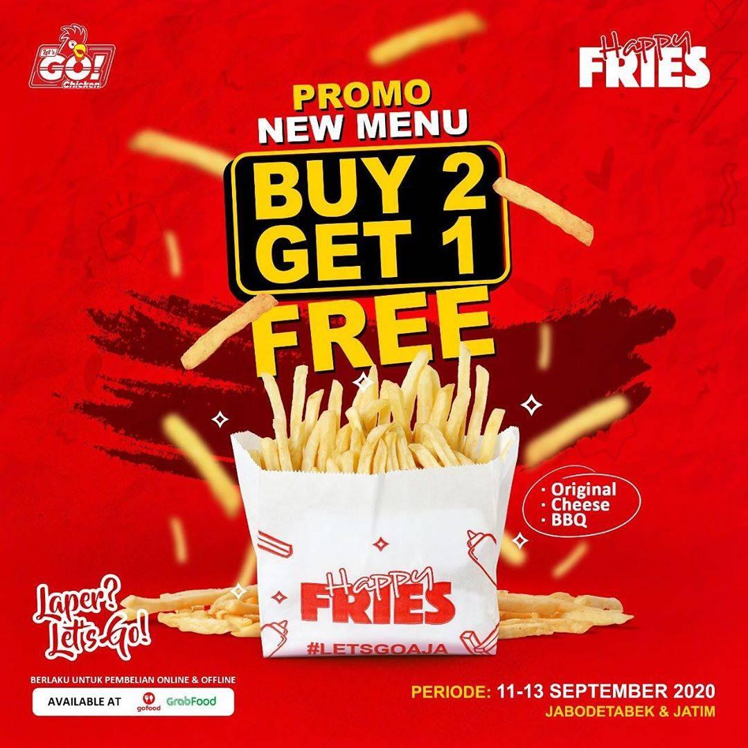 Diskon Let's Go Chicken Buy 2 Get 1 Free Happy Fries