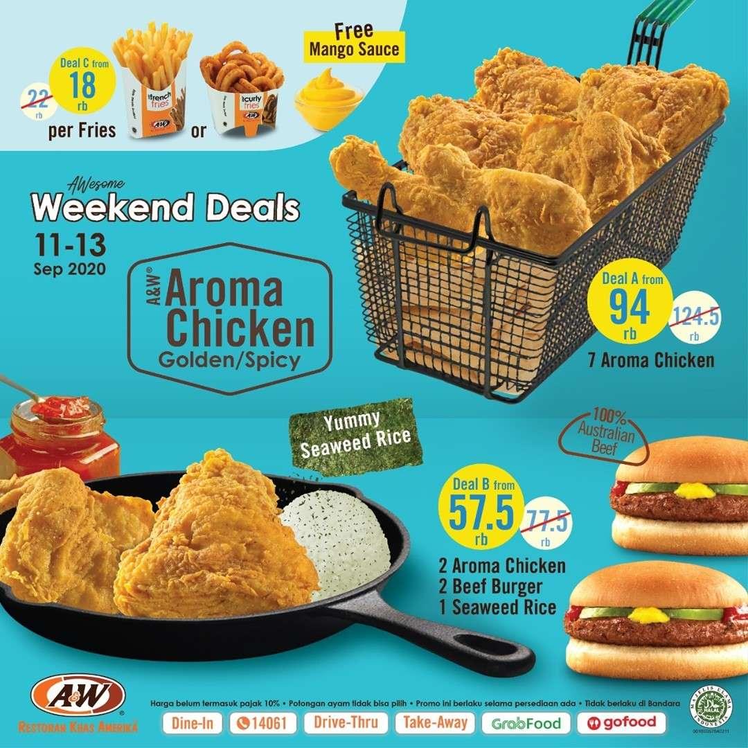 Diskon A&W Restaurant Awesome Weekend Deals
