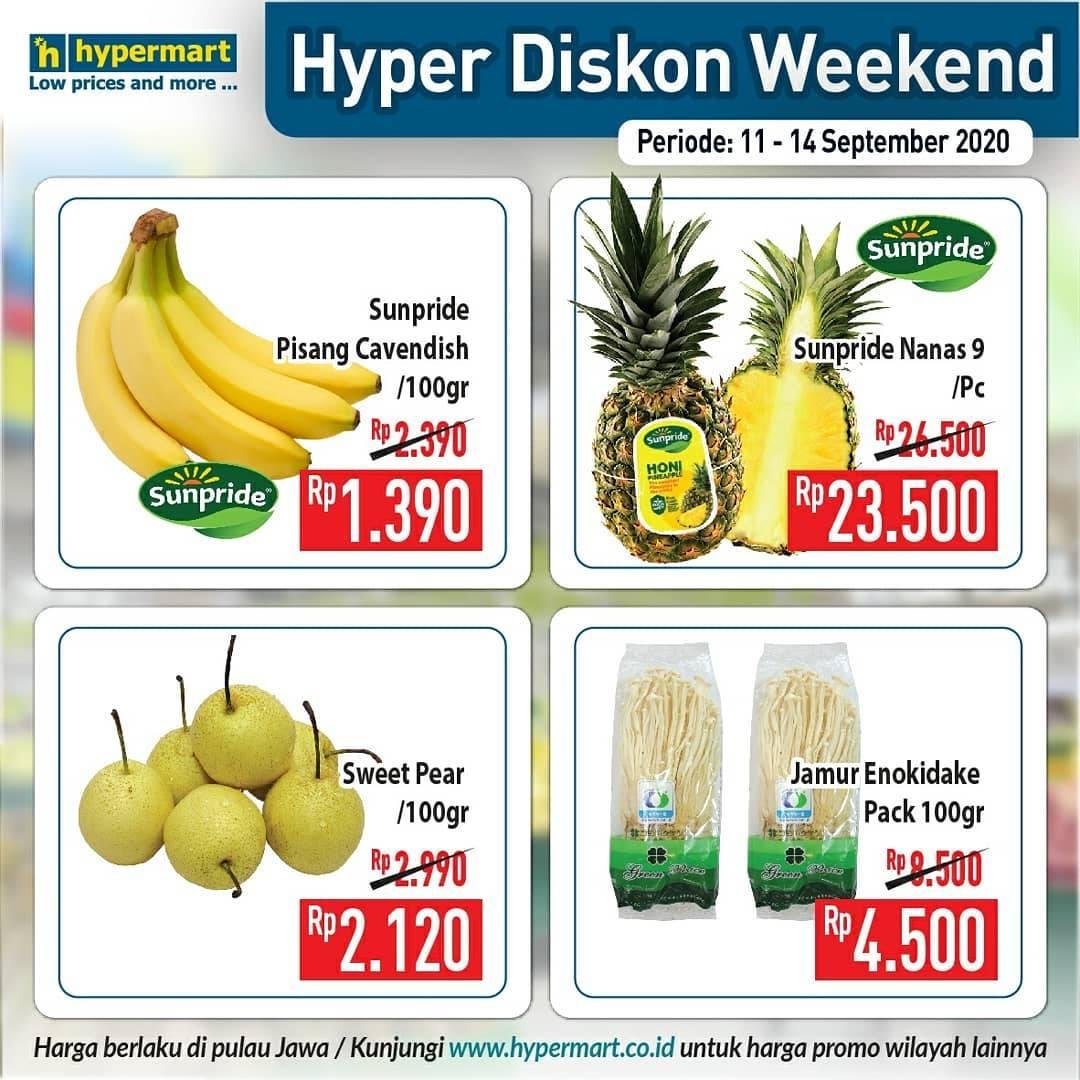 Diskon Katalog Promo Hypermart JSM Weekend Periode 11 - 14 September 2020