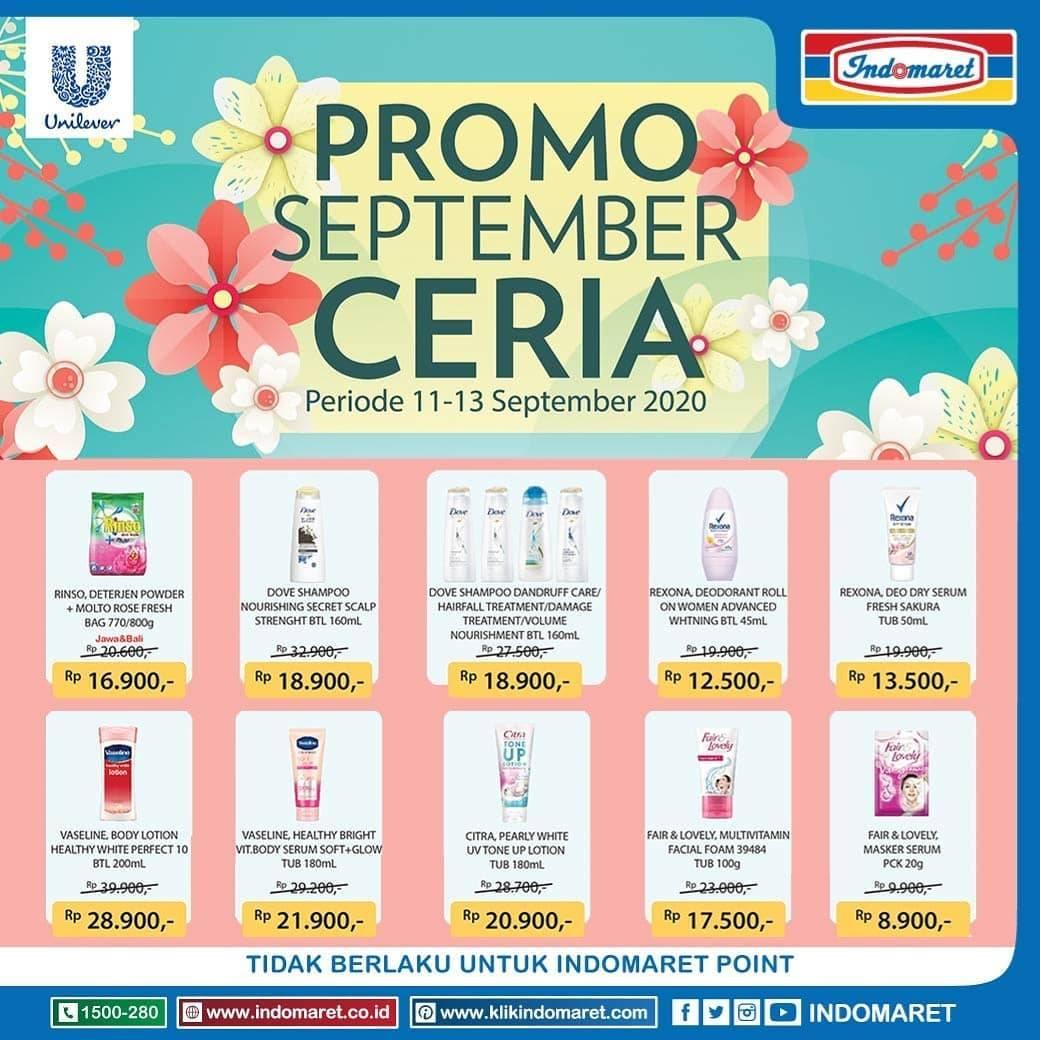 Diskon Katalog Promo Indomaret September Ceria Periode 11 - 13 September 2020