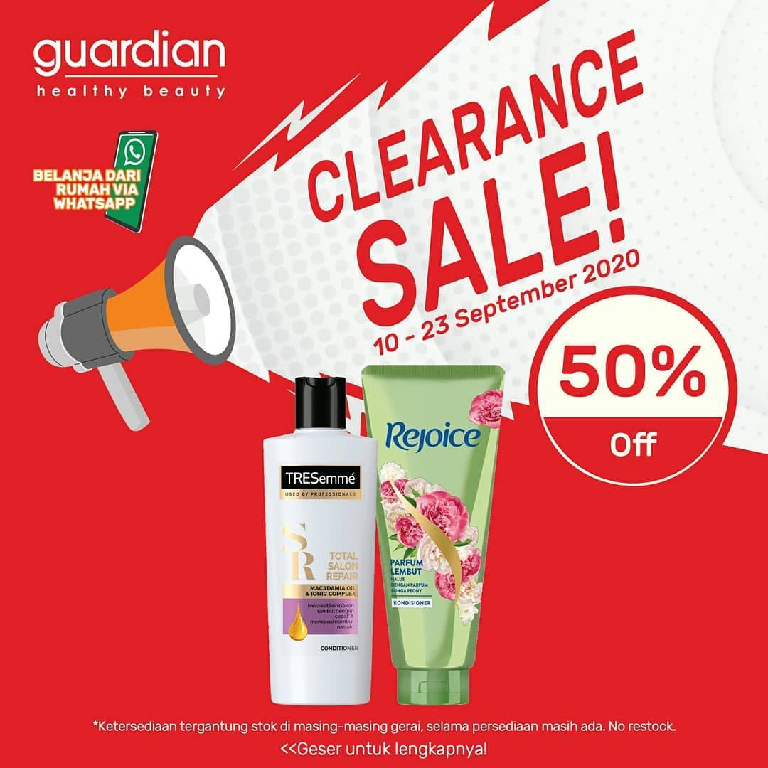 Diskon Katalog Promo Guardian Clearance SALE 50% Periode 10 - 23 September 2020