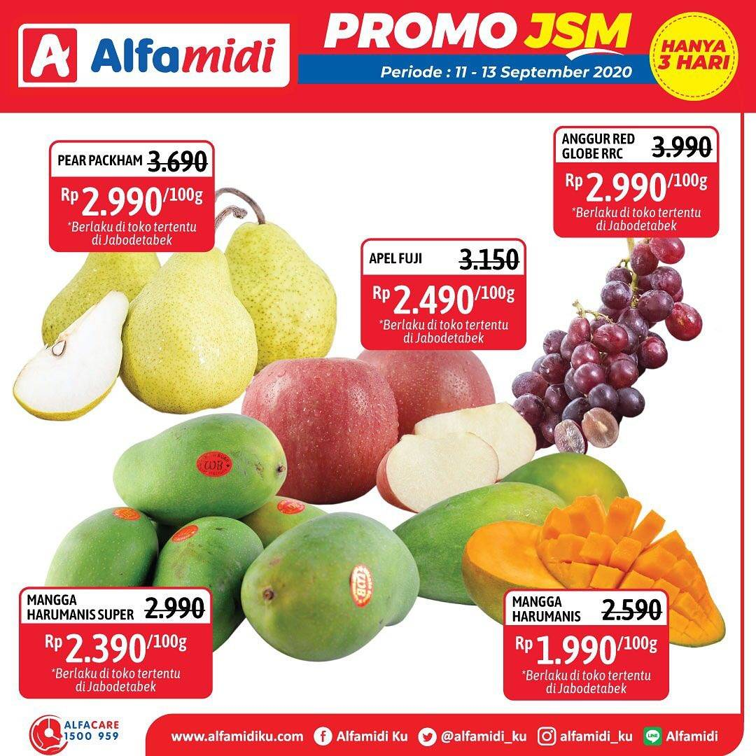 Diskon Katalog Promo Alfamidi JSM Terbaru Periode 11 - 13 September 2020