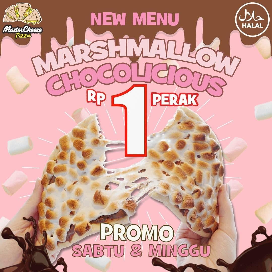 Diskon Mastercheese Pizza Promo New Menu Rp. 1 Marsmallow Chocolicious