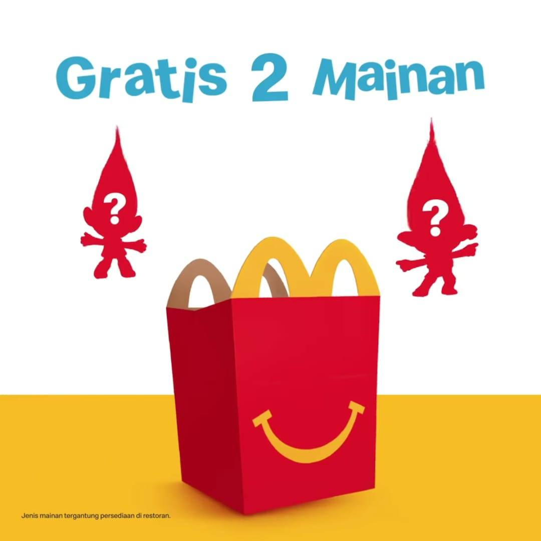 Diskon McDonalds Buy 1 Happy Meal Get 2 Free Toys