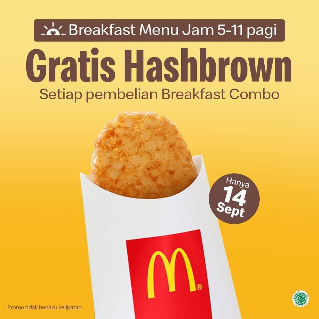 Diskon McDonalds Gratis Hashbrown