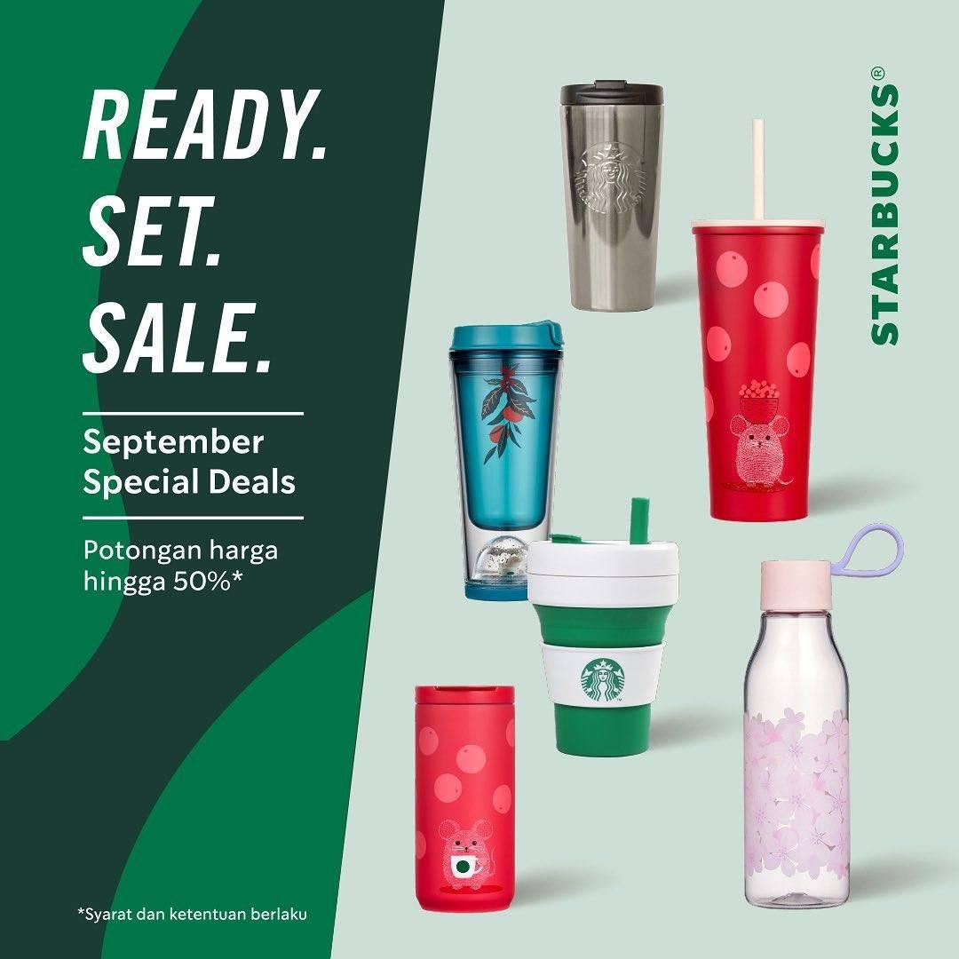Diskon Starbucks Ready.Set.Sale September Deals