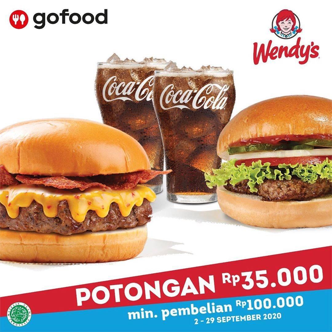 Diskon Wendy's Potongan Rp. 35.000 Di GoFood