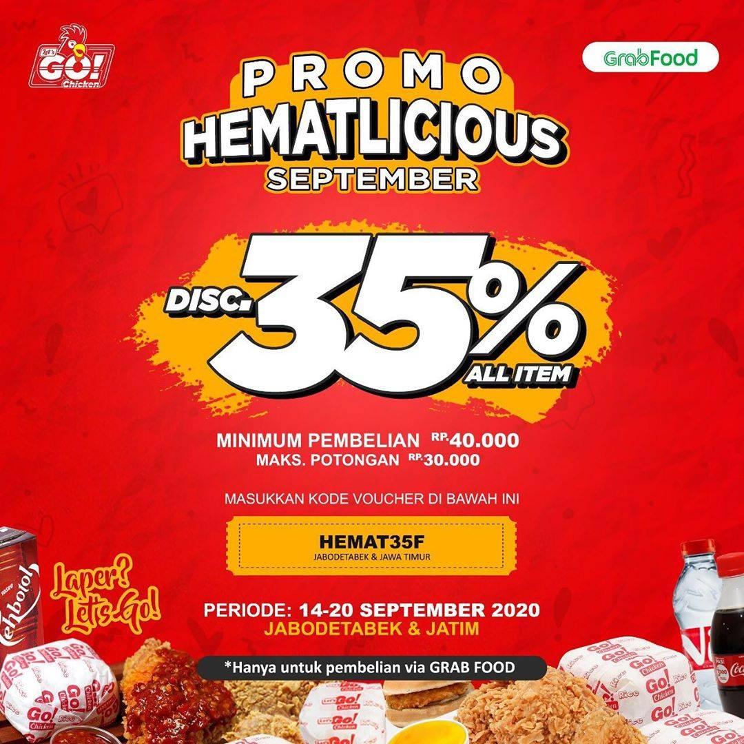 Diskon Let's Go Chicken Promo Hematlicious September Di GrabFood