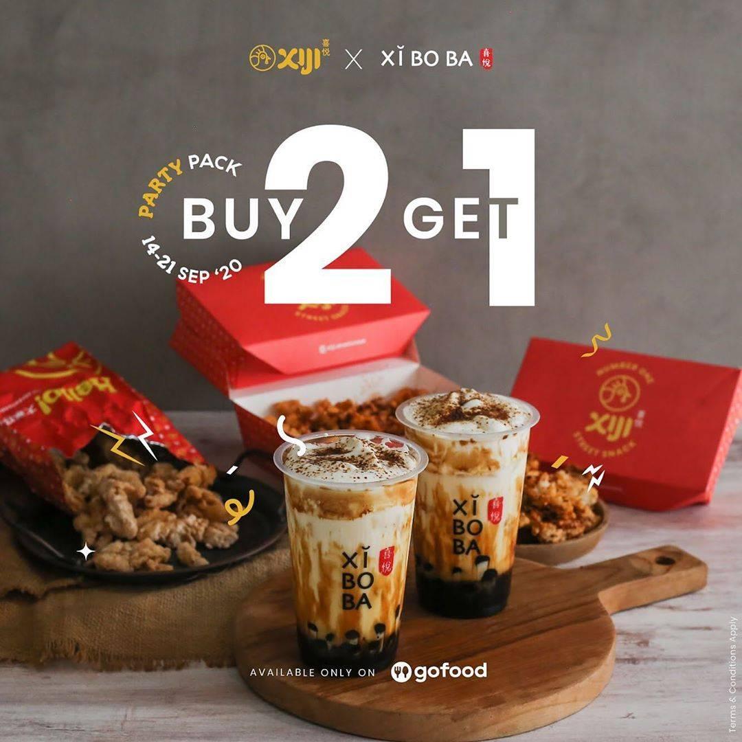 Diskon Promo Xi Ji x Xi Bo Ba x GoFood Buy 2 Get 1  di GoFood