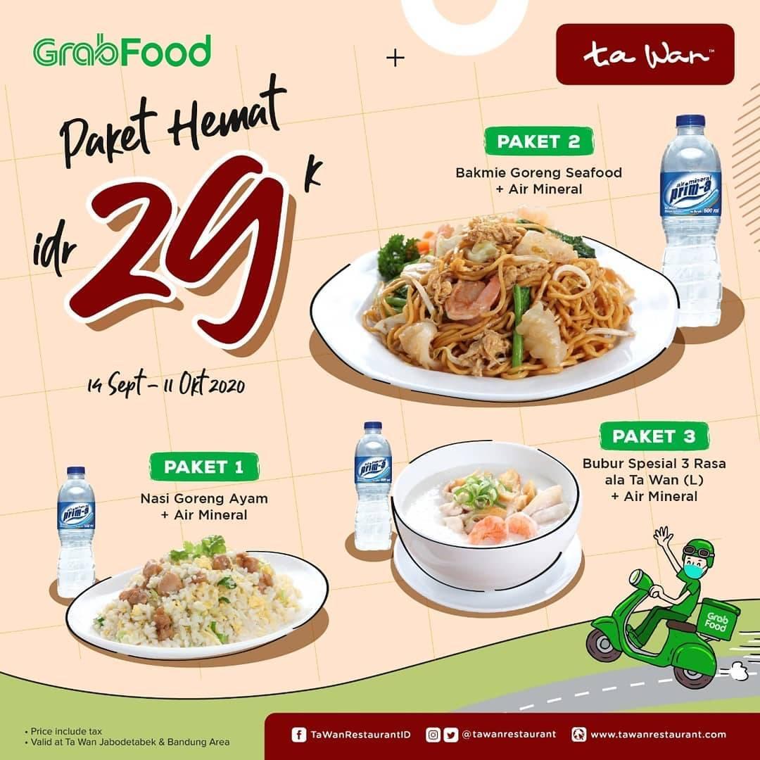 Diskon Ta Wan Restaurant Paket Hemat Rp. 29.000