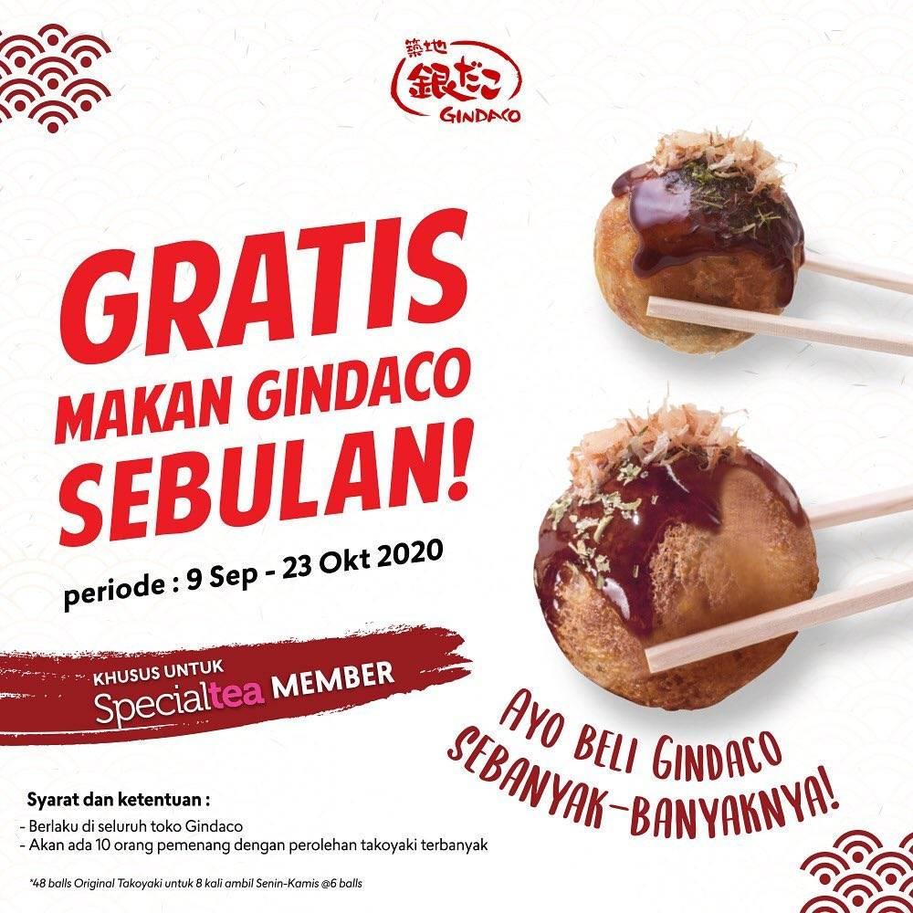 Diskon Gindaco Promo Gratis Makan Takoyaki Sebulan