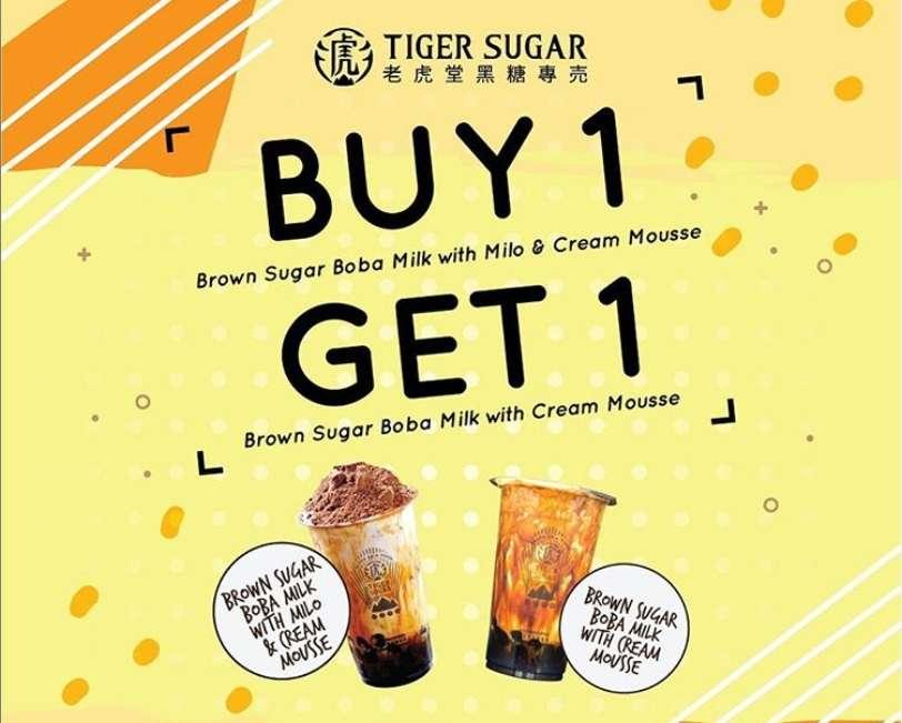 Diskon Tiger Sugar Promo Buy 1 Get 1