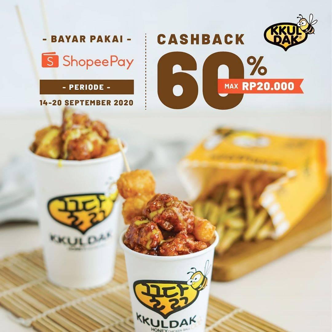 Diskon KKuldak Promo ShopeePay Cashback 60%