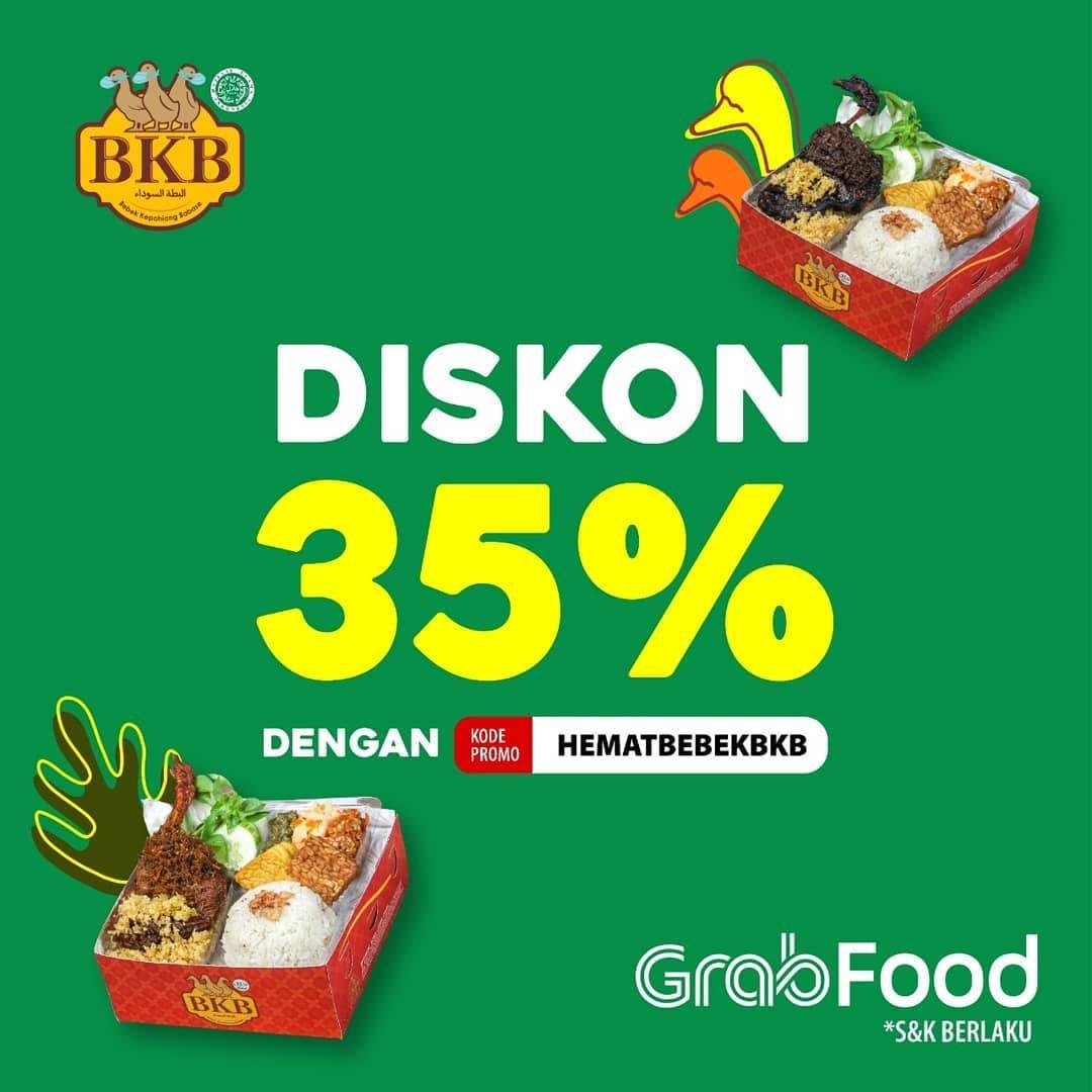 Diskon Bebek BKB Diskon 35% Di GrabFood