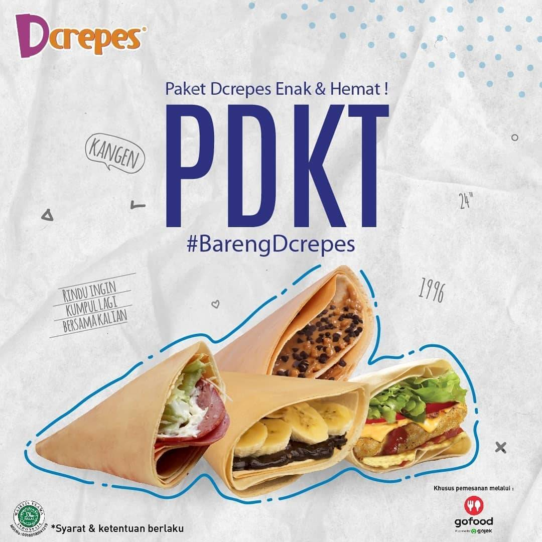 Diskon DCrepes Promo Paket DCreeps Enak & Hemat