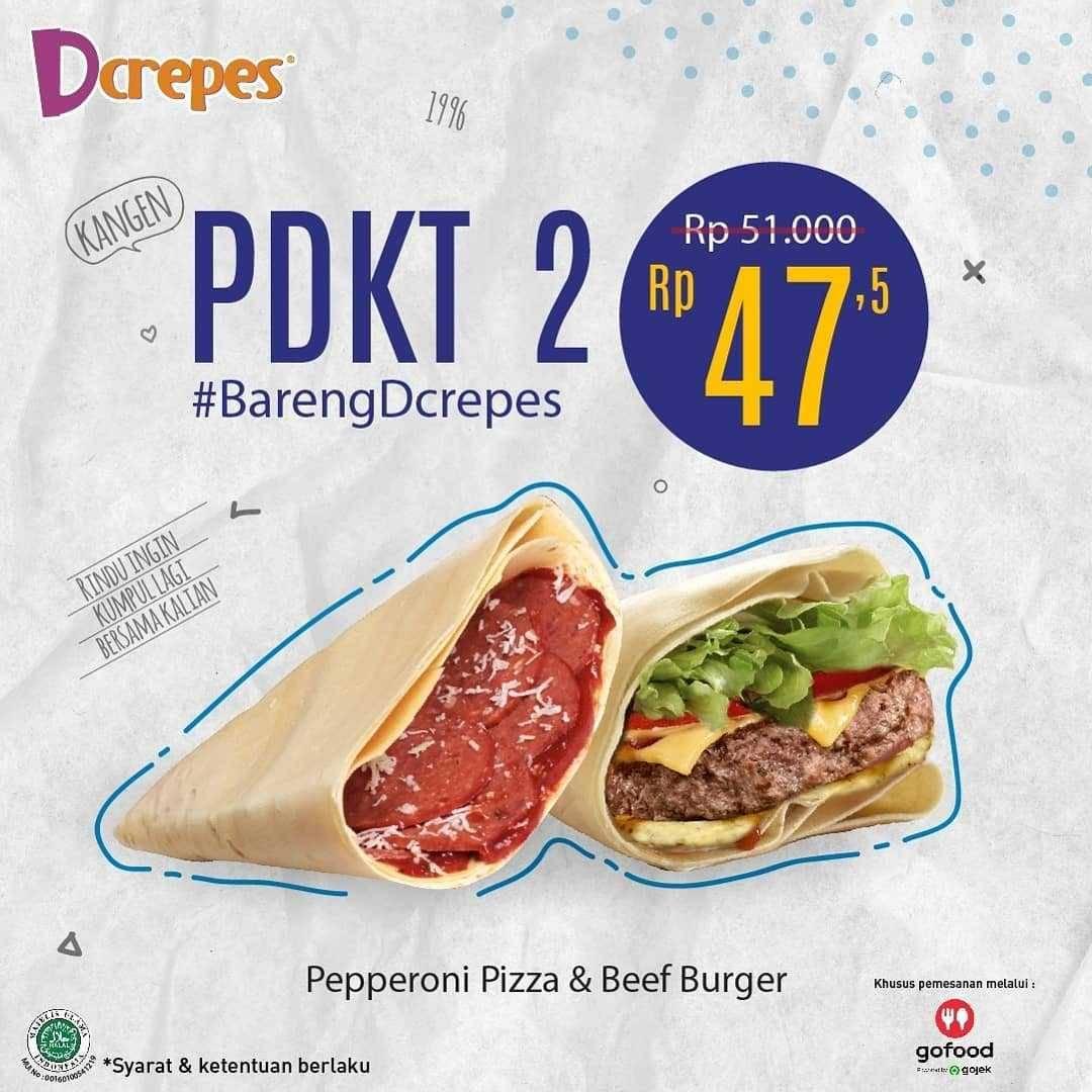 Promo diskon DCrepes Promo Paket DCreeps Enak & Hemat
