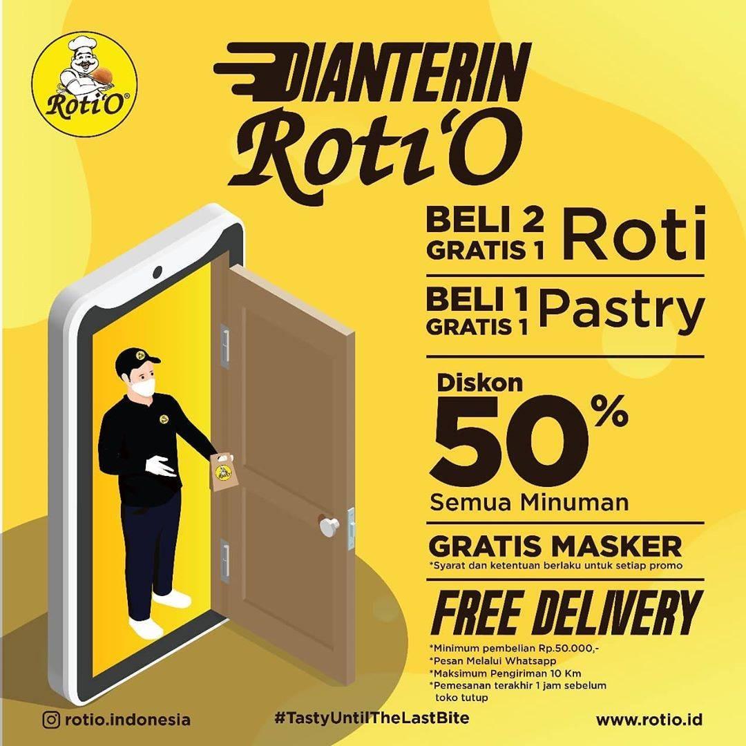Diskon ROti'O Promo Online Delivery