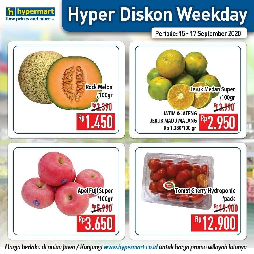 Diskon Katalog Promo Hypermart Diskon Weekday Periode 15 - 17 September 2020