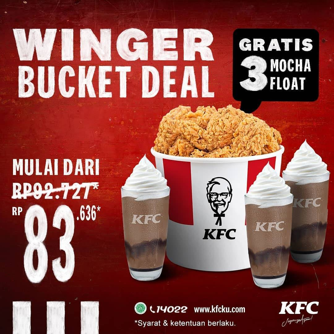 Diskon KFC Promo Winger Bucket deal Mulai Rp. 83.636