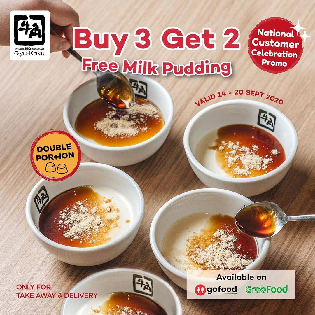 Diskon Gyukaku Promo Buy 3 Get 2 Milk Pudding Double Portion