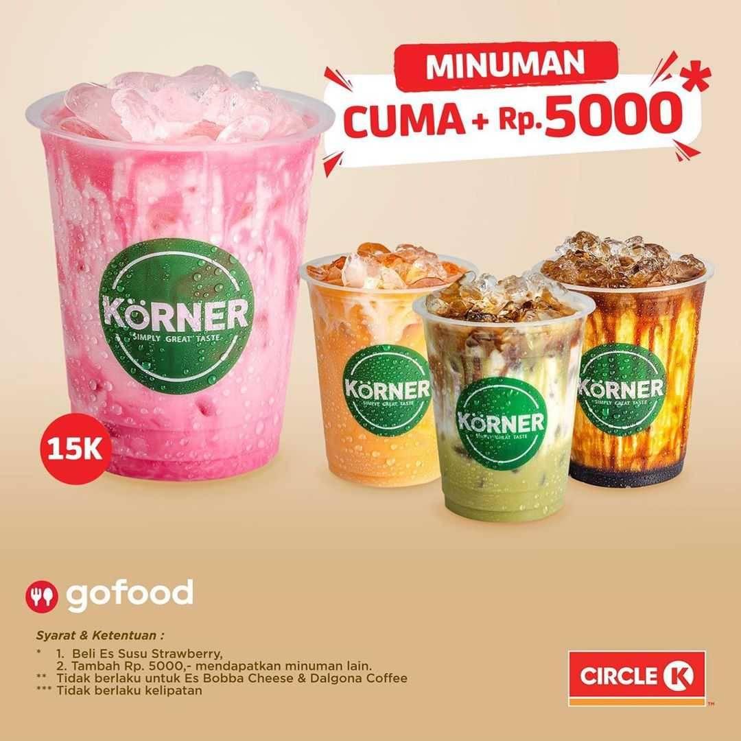 Promo diskon Circle K Promo Bonus Minuman Setiap Tambah Hingga Rp. 5.000