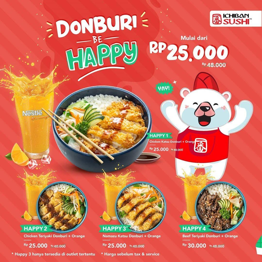 Diskon Ichiban Sushi Promo Donburi Be Happy