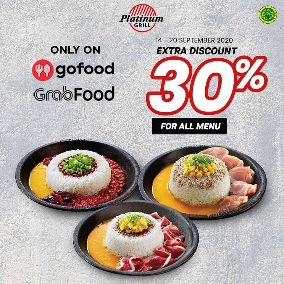 Diskon Platinum Grill Extra Discount 30% Off For All Menu On Online Delivery