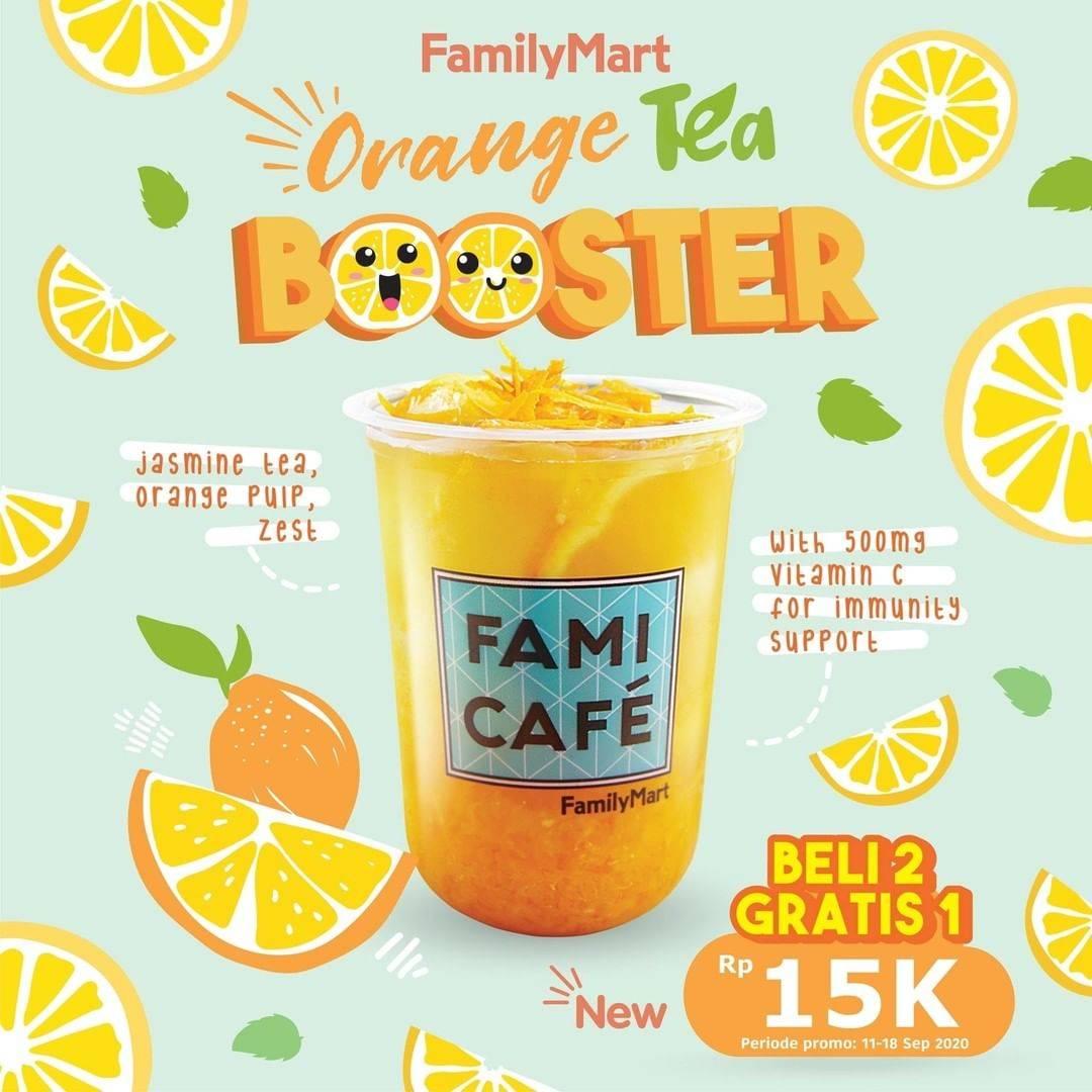 Diskon Family Mart promo Beli 2 Gratis 1 orange tea booster