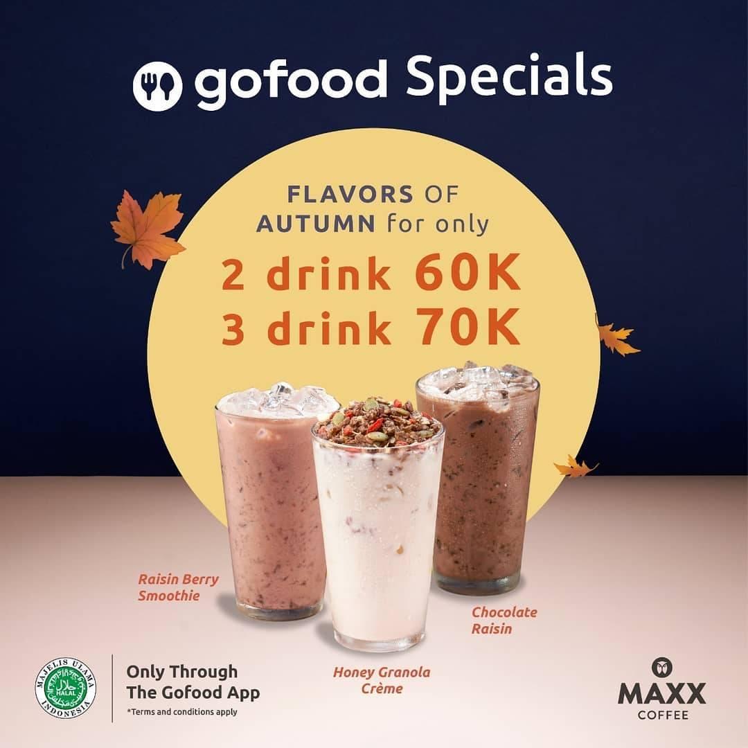 Diskon Maxx Coffee Promo GoFood Specials