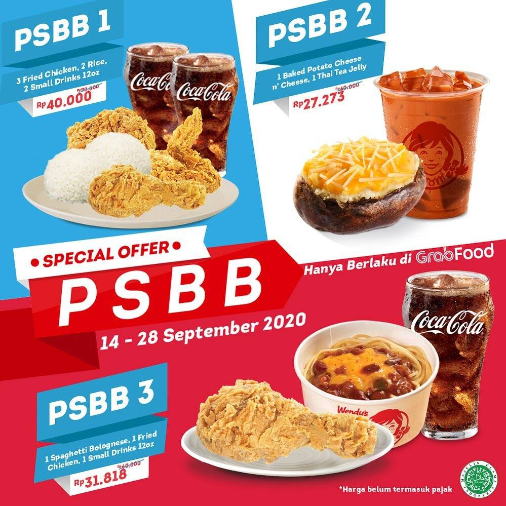 Diskon Wendys Special Offer PSBB On Grabfood