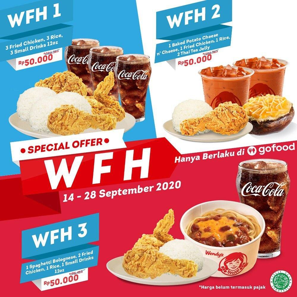 Diskon Wendys Special Offer WFH On Gofood