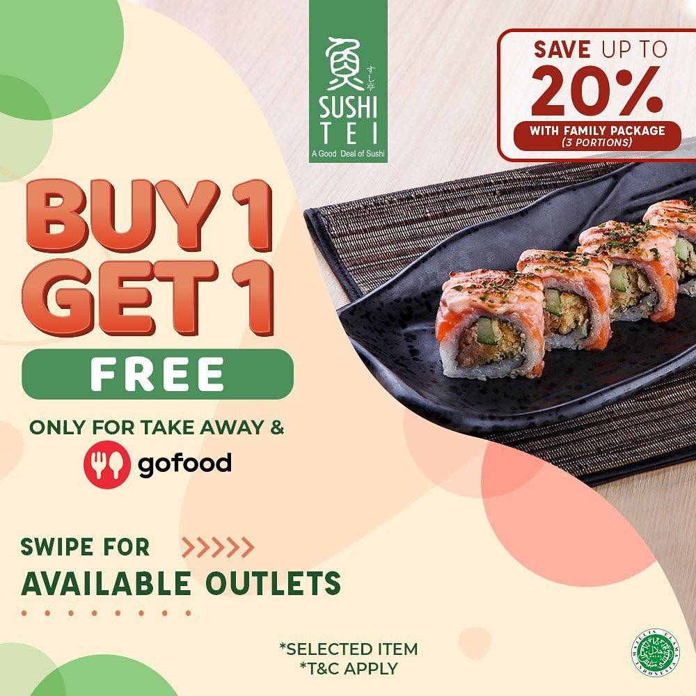 Diskon Sushi Tei Buy 1 Get 1 Free Or Save Up To 20% On GoFood