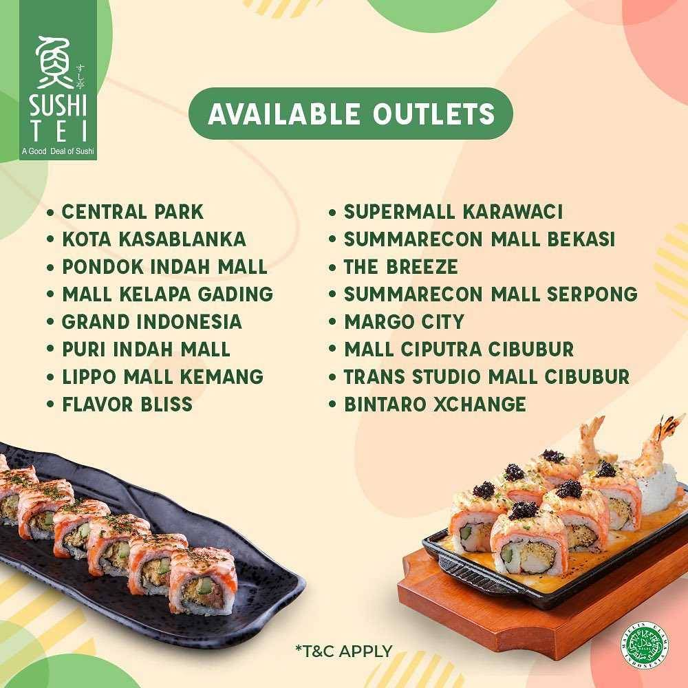 Promo diskon Sushi Tei Buy 1 Get 1 Free Or Save Up To 20% On GoFood